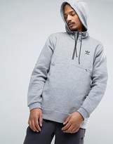 Adidas Originals Shadow Tones Overhead Jacket In Grey Ce7107