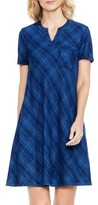 Women's Two By Vince Camuto Plaid Denim A-Line Dress