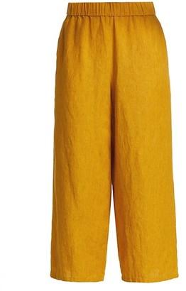 Eileen Fisher Wide-Leg Cropped Pants