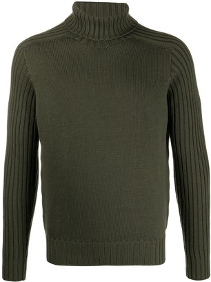 Fileria Ribbed Knit Trim Wool Jumper