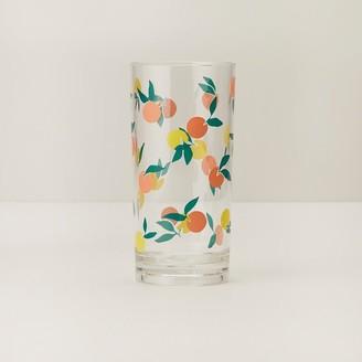Indigo Oranges Acrylic Highball Glass
