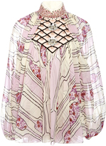Giambattista Valli Embellished Silk Georgette Blouse