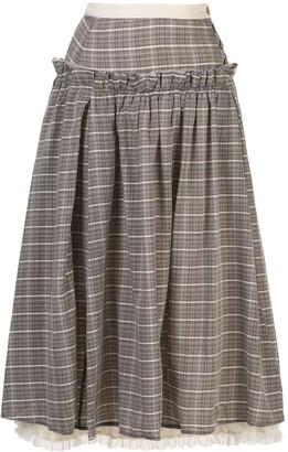 Renli Su plaid-print A-line skirt
