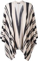 N.Peal striped poncho cardigan
