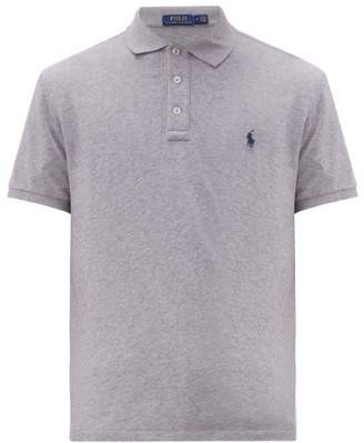 Polo Ralph Lauren Logo-embroidered Cotton-jersey Polo Shirt - Mens - Grey