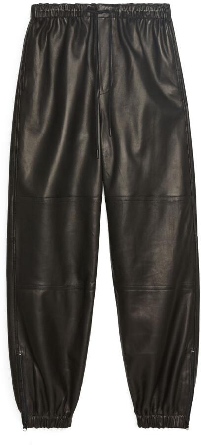 Arket Leather Track Pants