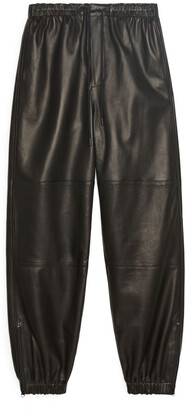 Arket Leather Track Pants