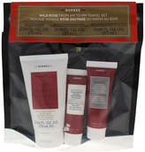 Korres Wild Rose From AM to PM Travel set 2.5oz Exfoliating Cleanser, 0.67oz
