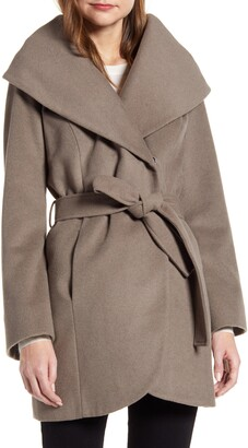 Halogen Wool Blend Wrap Coat