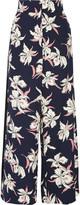 Marni Floral-print silk wide-leg pants
