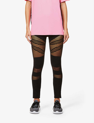 Redemption Mesh-panel stretch-woven leggings