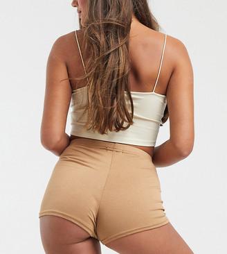 Fashionkilla Petite booty short in camel