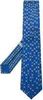 Bulgari car print tie