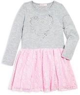 Design History Girls' Rhinestud Heart Dress - Little Kid
