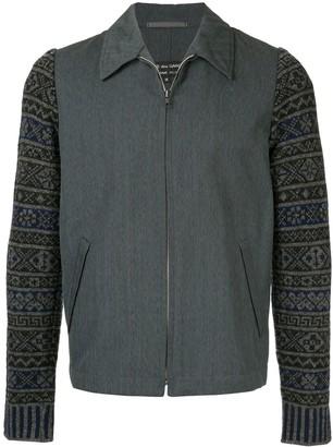Comme Des Garçons Pre Owned Patterned Sleeve Jacket