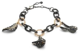 Alexis Bittar Woodland Creatures Soft Link Charm Bracelet