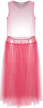 Molly Goddard Sheer Tulle Dress