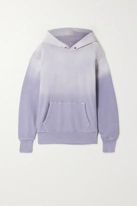LES TIEN Ombre Cotton-jersey Hoodie - Lilac