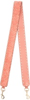 Valentino Rockstud Spike quilted-suede bag strap