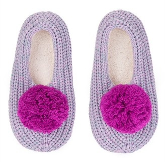 Verloop Pommed Rib Slippers Lilac/Marl Small/Medium