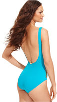 MICHAEL Michael Kors Swimsuit, Studded Ruched Maillot One-Piece