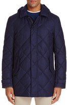Canali Quilted Coat with Removable Hood