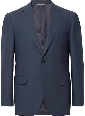 Canali Navy Slim-Fit Travel Water-Resistant Wool Blazer