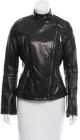 MICHAEL Michael Kors Mock Neck Leather Jacket