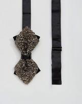 Moss Bros Bow Tie In Glitter
