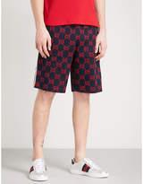 Gucci Logo Intarsia Cotton-jersey Shorts
