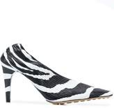 Bottega Veneta zebra print pumps