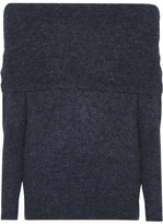 Acne Studios Daze Off-the-shoulder Knitted Sweater - Storm blue