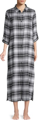 Donna Karan Sleepwear Plaid Sleepshirt