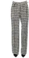Valentino Optical Print Wool Trousers