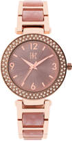 INC International Concepts Women's Pink Acrylic & Rose Gold-Tone Bracelet Watch 36mm IN018RGBL, Only at Macy's
