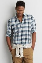 American Eagle Outfitters AE Plaid Madras Shirt