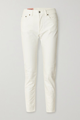Acne Studios High-rise Slim-leg Jeans - White