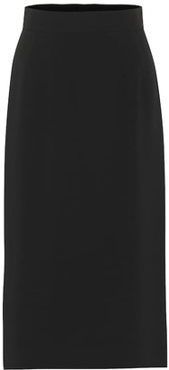 Dolce & Gabbana High-rise stretch-cady skirt