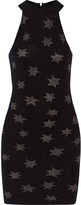 Rebecca Minkoff Galaxy metallic merino wool-blend mini dress
