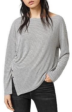 AllSaints Hatti Striped Long-Sleeve Tee