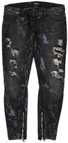 Balmain Distressed Metal Mesh Jeans