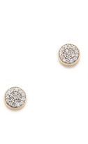 Adina Solid Pave Disc Earrings