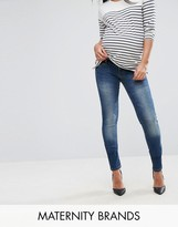 Mama Licious Mama.licious Mamalicious Mid Wash Skinny Jeans