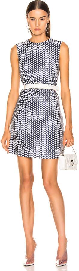 Valentino Optical Dress in Pure Blue & Ivory | FWRD