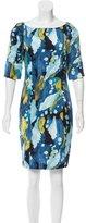 Diane von Furstenberg Pattern Printed Silk Mini Dress