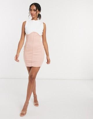 Public Desire bodycon mini dress with contrast mini seam