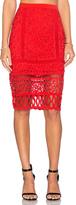 Greylin Melrose Lace Pencil Skirt