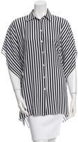 Michael Kors Striped Silk Blouse