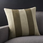 """Crate & Barrel Ira Latte Brown Leather 18"""" Pillow"""