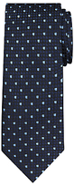 Daniel Hechter Square Dot Woven Silk Tie, Navy/blue